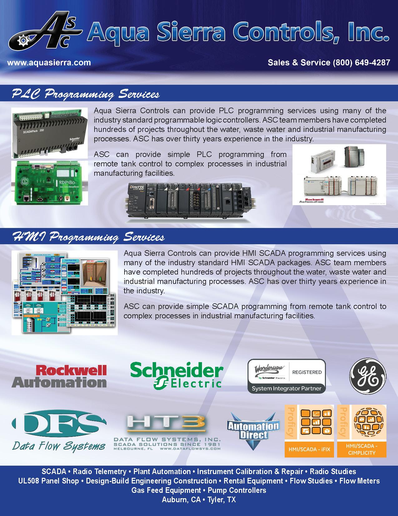 Aqua Sierra Controls, Inc  - Services